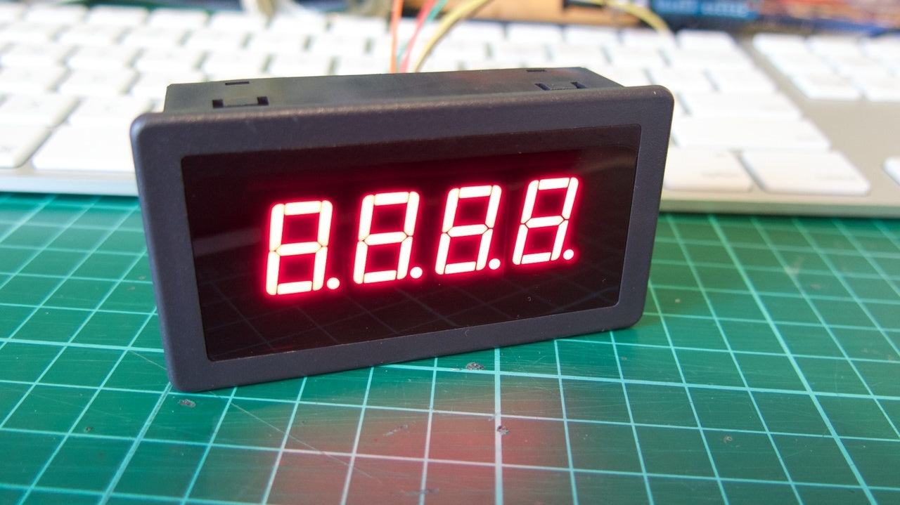 Four Digit Seven Segment Display Module and Enclosure from PMD Way with free delivery worldwide