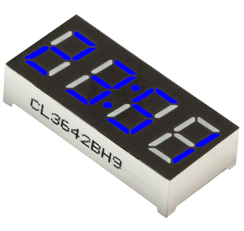 "0.36"" 4-Digit 7-segment LED Clock Display - Blue - CA - 5 Pack from PMD Way with free delivery worldwide"