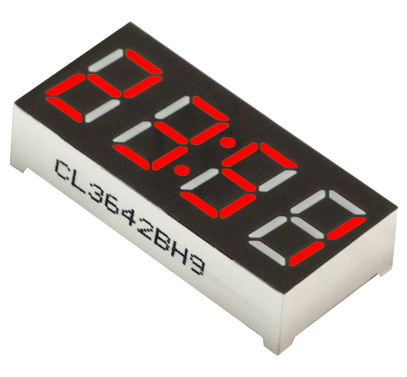 "0.36"" 4-Digit 7-segment LED Clock Display - Red - CA - 5 Pack from PMD Way with free delivery worldwide"
