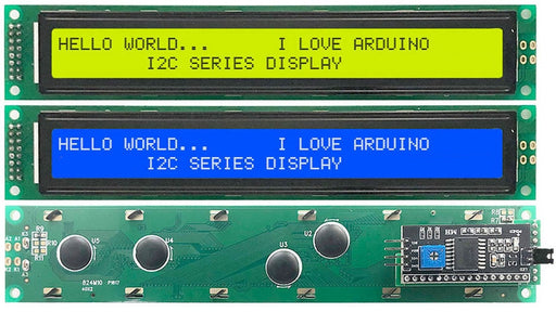 4002 Character LCD Modules with I2C Interface - 5 Pack from PMD Way with free delivery worldwide