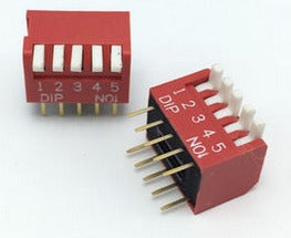 Piano Style DIP Switch - 5 Way - 10 Pack from PMD Way with free delivery worldwide