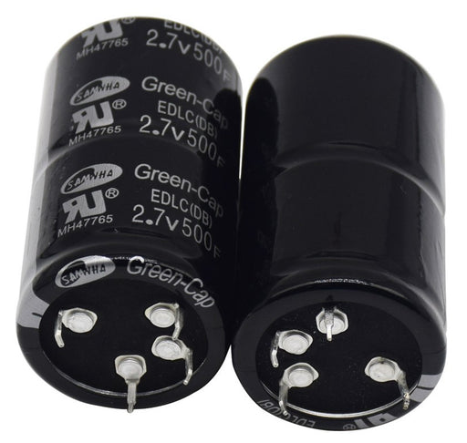 Quality 500F 2.7V Super Capacitors in packs of two from PMD Way with free delivery worldwide