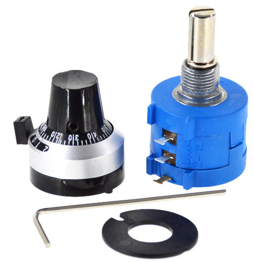 5K Precision Multiturn Potentiometer - 3590S with Counter Knob from PMD Way with free delivery worldwide