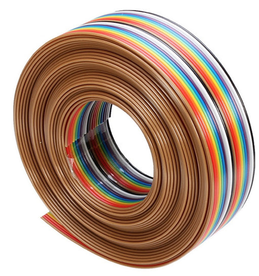 Rainbow IDC Ribbon Cable for 2.54mm Dupont Cables - 5 metres from PMD Way with free delivery worldwide
