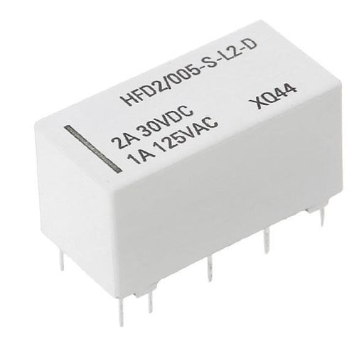 DPDT 5V Coil Bistable Latching Relays in packs of ten from PMD Way with free delivery worldwide