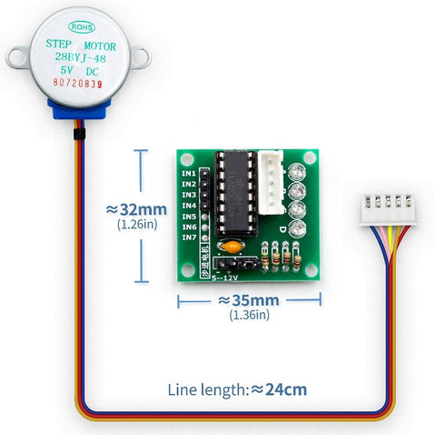 28BYJ-48 5V DC Stepper Motor and Driver Board from PMD Way with free delivery worldwide