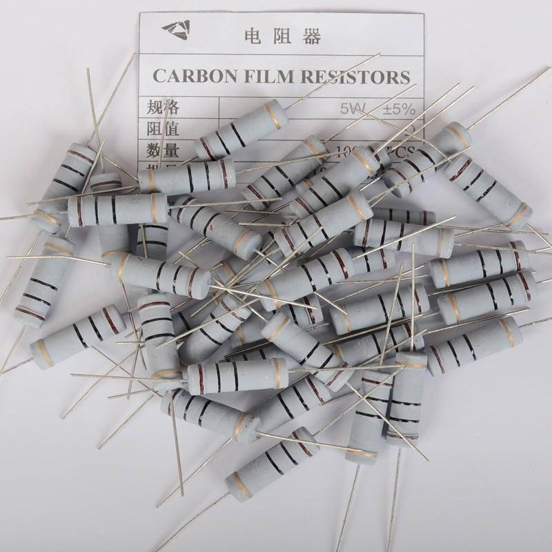 5W Carbon Film Resistors - 0 to 1K0 - Pack of 10 from PMD Way with free delivery worldwide