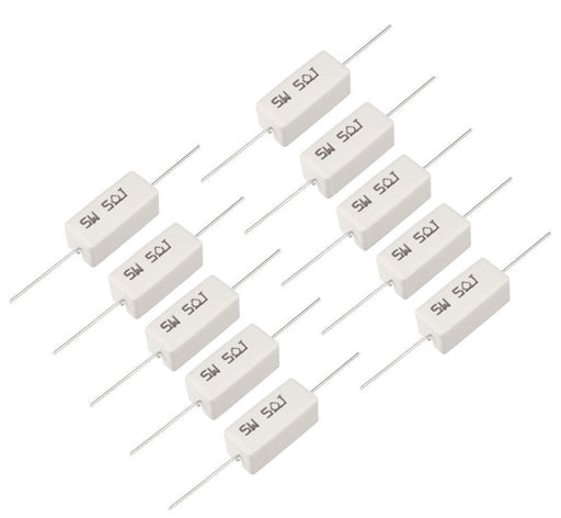 5W Wirewound Ceramic Resistors in packs of ten from PMD Way with free delivery worldwide