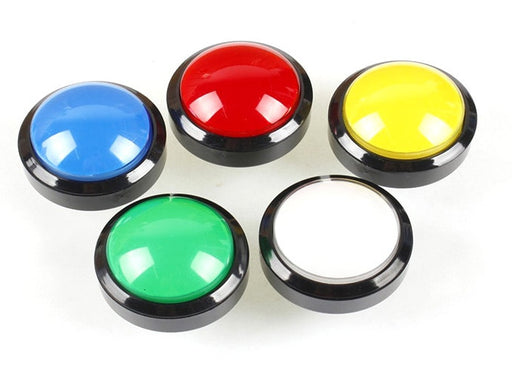 60mm Illuminated Dome Arcade Buttons in packs of five from PMD Way with free delivery worldwide