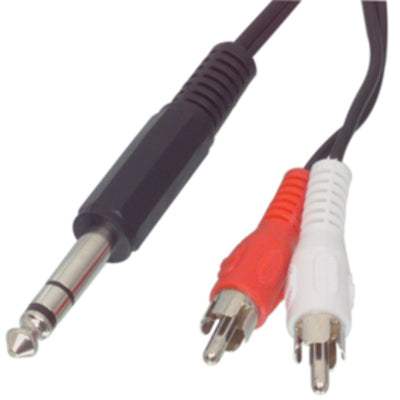 Useful 6.35mm Stereo Plug to Twin RCA plug Cable from PMD Way with free delivery worldwide