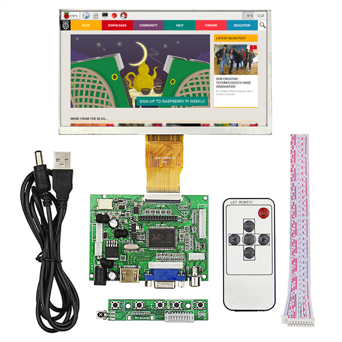 "7"" 800 x 400 TFT LCD with HDMI VGA Inputs from PMD Way with free delivery worldwide"