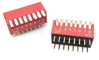 Piano Style DIP Switch - 8 Way - 10 Pack from PMD Way with free delivery worldwide