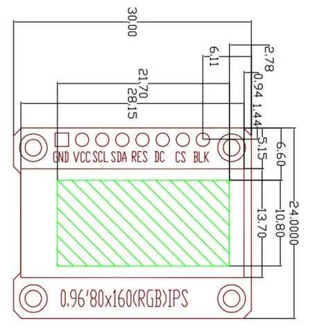 """0.96"""" 80 x 160 Full Color OLED Module from PMD Way with free delivery worldwide"""