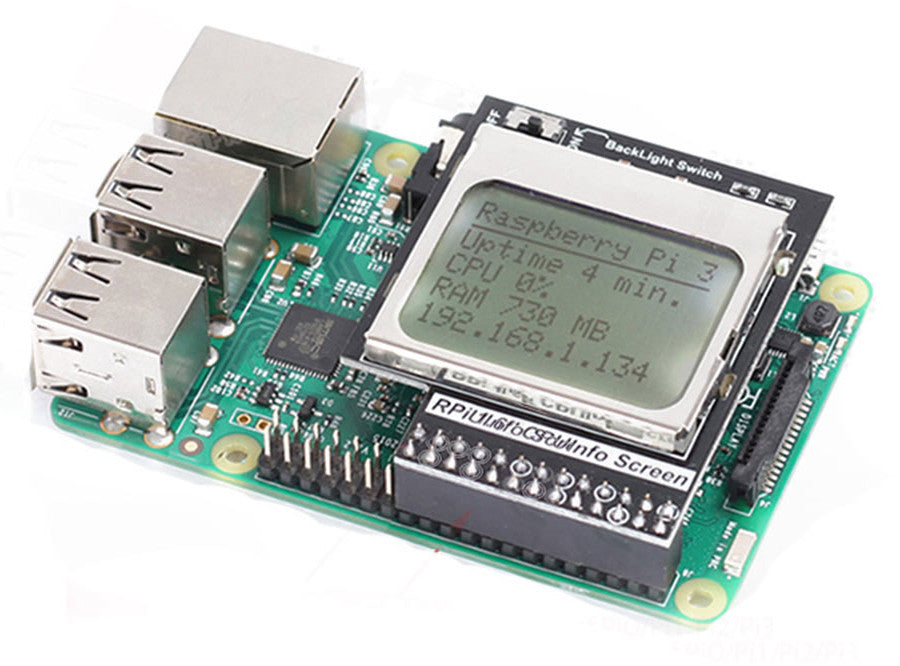Backlit 84x48 Pixel LCD for Raspberry Pi from PMD Way with free delivery worldwide