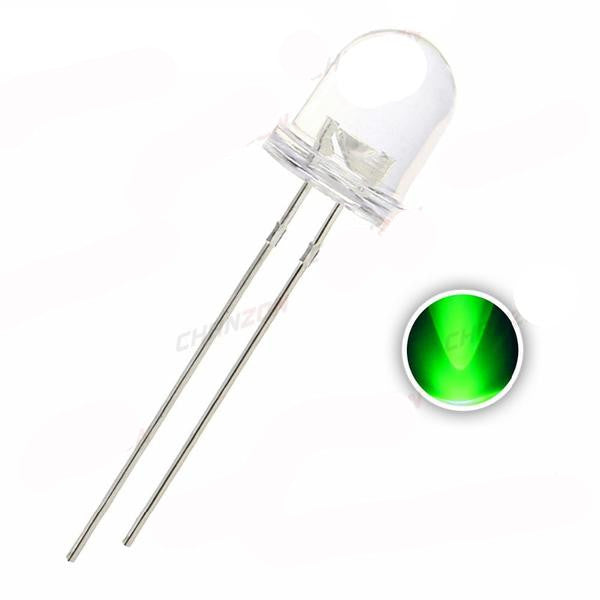 8mm Green Clear LED - 50 Pack from PMD Way with free delivery worldwide