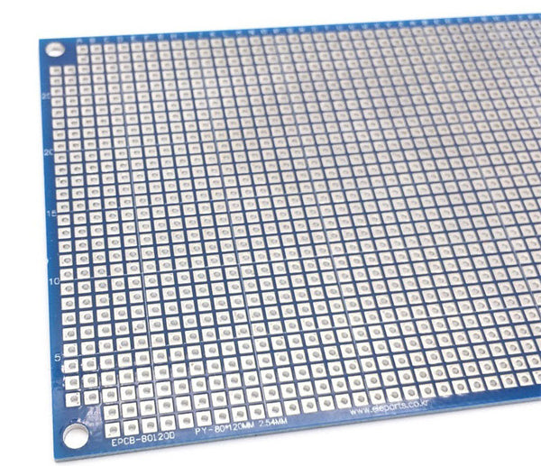 Double Sided 8x12cm SMD Friendly Prototyping PCB from PMD Way with free delivery worldwide