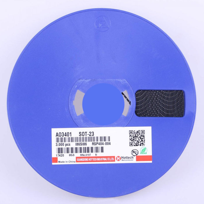 AO3401 SMD SOT-23 P-Channel MOSFET - Reel of 3000 from PMD Way with free delivery worldwide