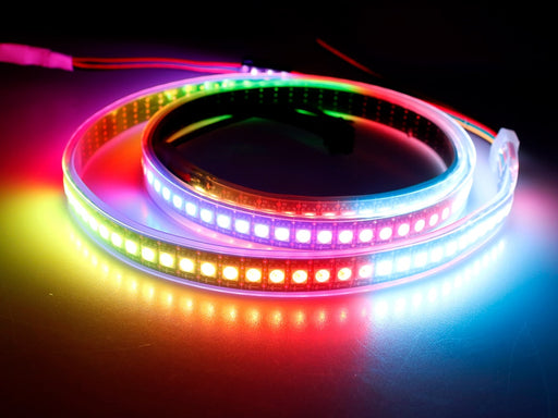 APA102 Addressable Color RGB LED Strips in various lengths and densities from PMD Way with free delivery worldwide