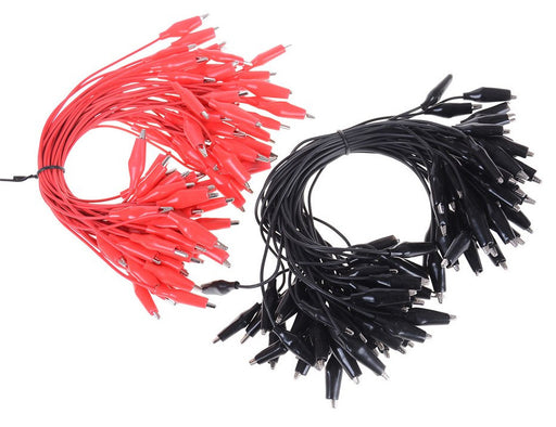 Great value Alligator Clip Test Leads - Red or Black Bulk Packs from PMD Way with free delivery worldwide
