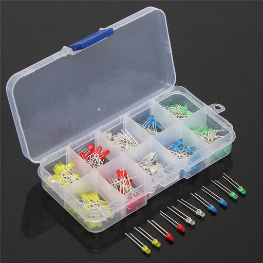 Assorted 3mm LED Kit - 200 Pack from PMD Way with free delivery worldwide
