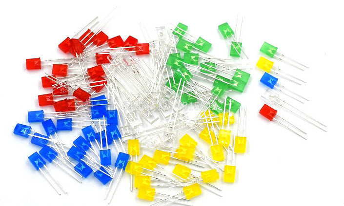 Assorted Rectangle LED Pack - 100 Pcs from PMD Way with free delivery worldwide