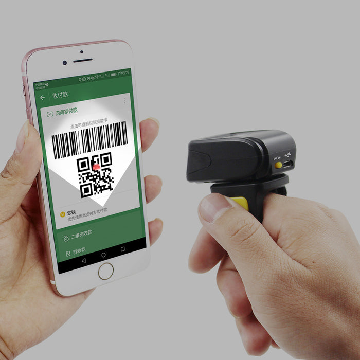 Easy and fast scanning with the Bluetooth Wireless CCD Ring Barcode QR Code Reader from PMD Way with free delivery, worldwide