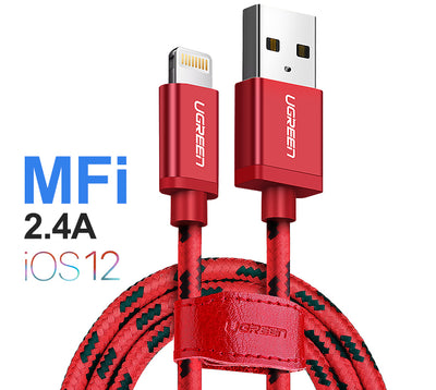 Charge your iPad or iPhone with a tangle-free Braided Lightning to USB Cable from PMD Way with free delivery worldwide