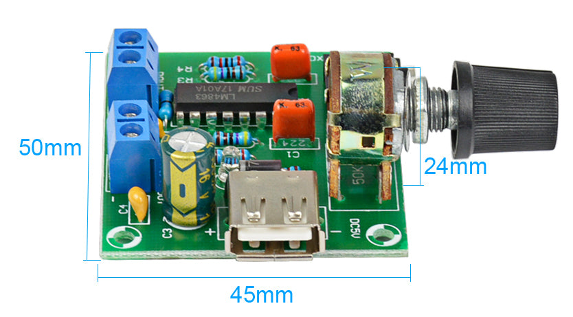 Compact and useful CM2038 5W x 2 Amplifier Board with USB Power from PMD Way with free delivery worldwide