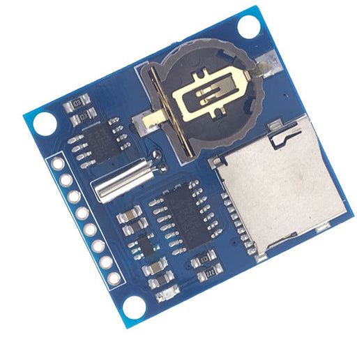 Real time clock and micro SD card breakout combined in the Compact Data Logging Module from PMD Way with free delivery worldwide