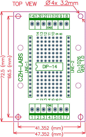 Useful DIP-14 IC Terminal Block Board from PMD Way with free delivery worldwide