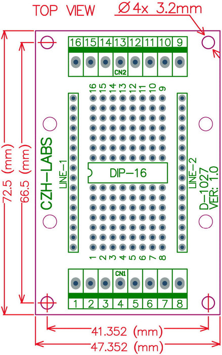 Useful DIP-16 IC Terminal Block Board from PMD Way with free delivery worldwide