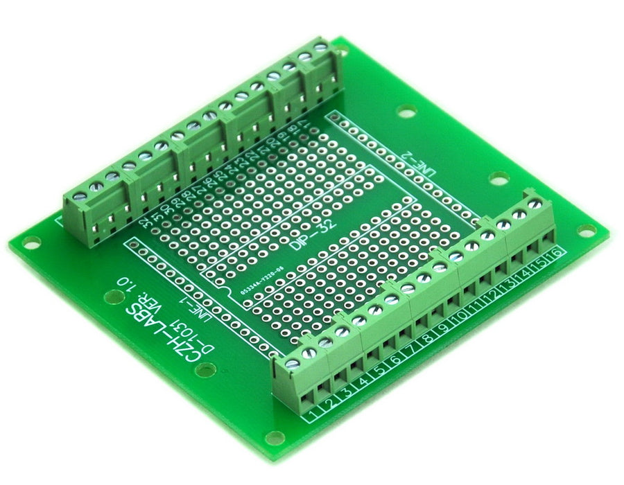 Useful DIP-32 IC Terminal Block Boards from PMD Way with free delivery worldwide