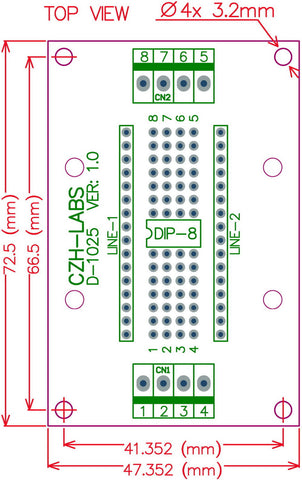 Useful DIP-8 IC Terminal Block Board from PMD Way with free delivery worldwide