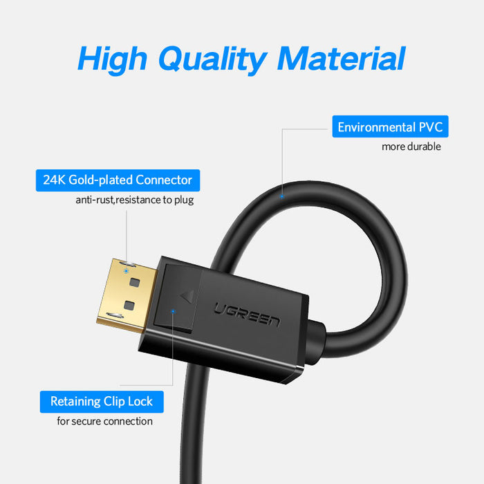 Quality Displayport 4K Male to Male Cables from PMD Way with free delivery worldwide