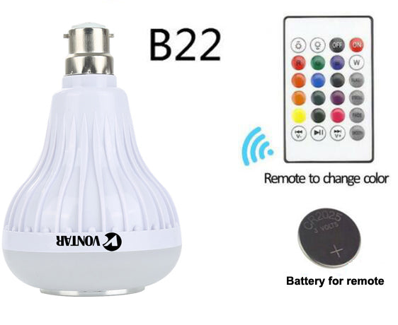 Adjust lighting and stream music with the E27 B22 Smart Colorful Light Bulb Bluetooth Speaker from PMD Way with free delivery, worldwide