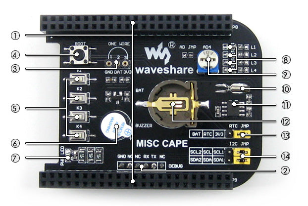 Experimenter Real Time Clock Cape for BeagleBone Black