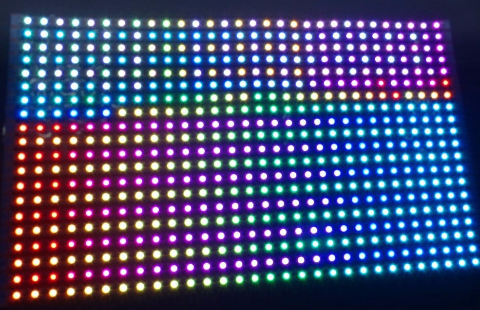 Flexible 30 x 30 WS2813 RGB LED Panels from PMD Way with free delivery worldwide