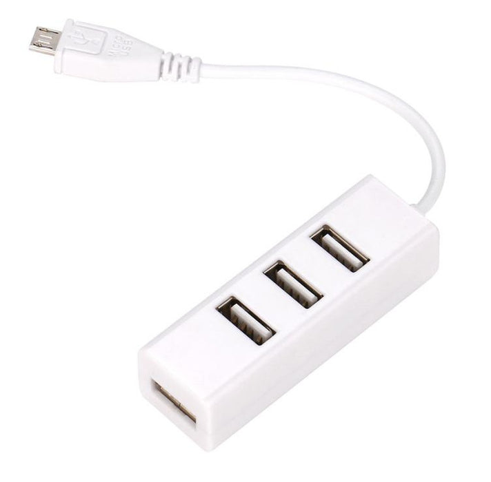 Useful Four Port USB Hub with Micro USB OTG Connector from PMD Way with free delivery worldwide