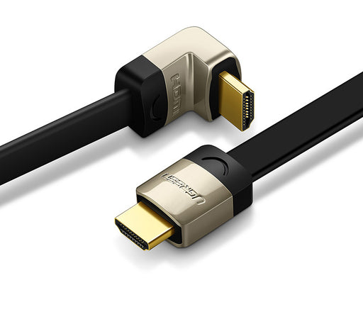 The perfect flat HDMI cable with angled plugs from PMD Way with free delivery worldwide