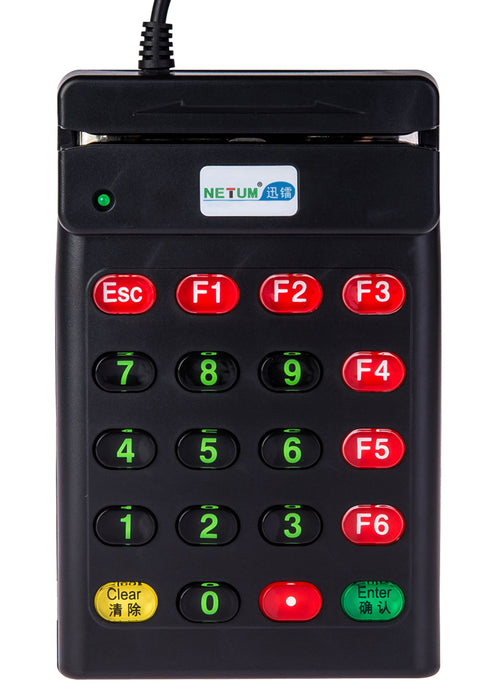 Handheld USB Numeric Keypad with Magnetic Card Reader