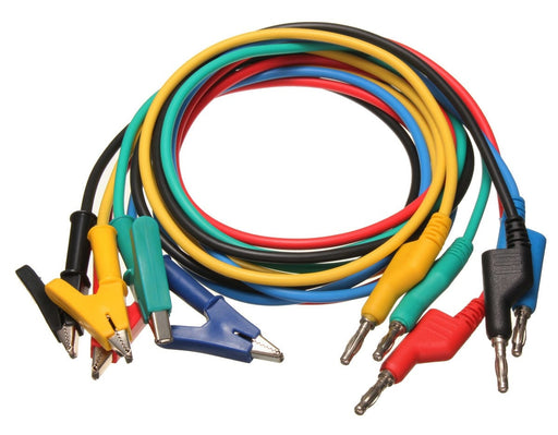 Quality Heavy Duty Alligator Clip to Banana Plug Leads in packs of five from PMD Way with free delivery worldwide