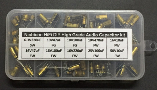 Quality High Grade HiFi Nichicon Audio Capacitor Assorted Kit - 100 Pieces from PMD Way with free delivery worldwide