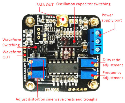 Great value ICL8038 Sine Triangle Square Wave Signal Generator Module with SMA output from PMD Way with free delivery worldwide