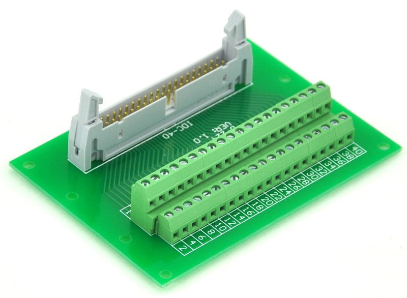 "Useful IDC Cable Breakout Board - 40 pin (2x20) 0.1"" from PMD Way with free delivery worldwide"
