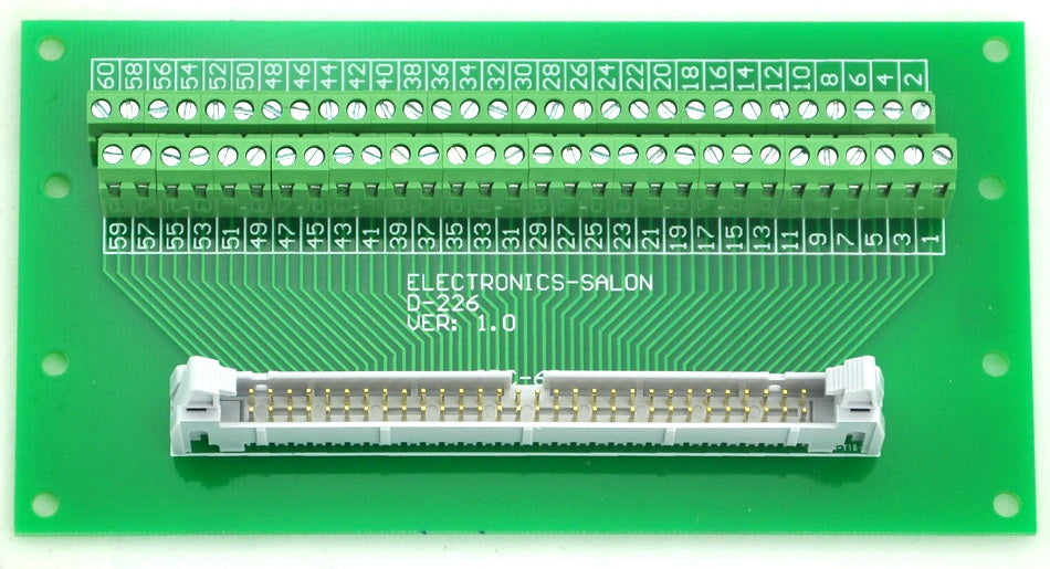 "Useful IDC Cable Breakout Board - 60 pin (2x30) 0.1"" from PMD Way with free delivery worldwide"