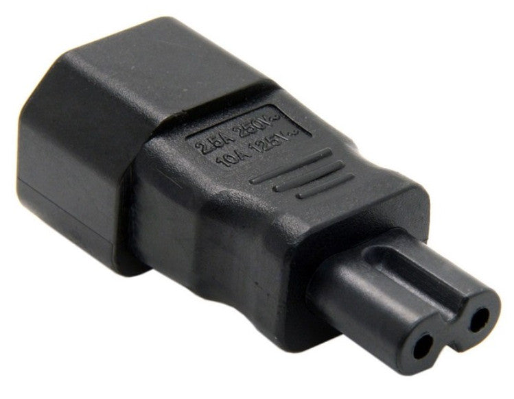 Useful IEC 3-pin socket to Figure-8 Plug Adaptor from PMD Way with free delivery worldwide