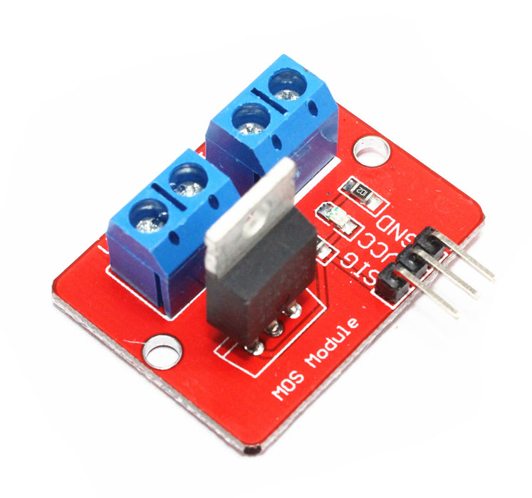 Control high loads and voltages with IRF520 MOSFET Breakout Boards in packs of ten from PMD Way with free delivery worldwide