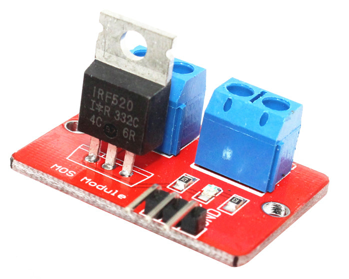 Easily control high current and loads with the IRF520 MOSFET Breakout Board from PMD Way with free delivery worldwide