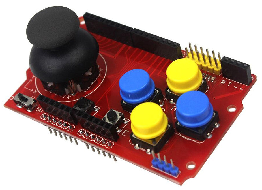 Play fun 8-bit games using the Joystick Gaming Shield for Arduino from PMD Way with free delivery, worldwide