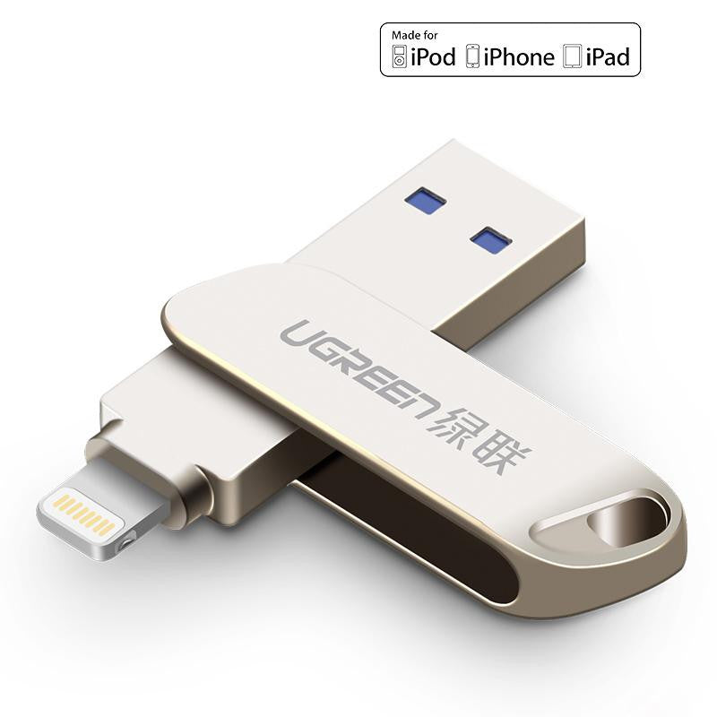 Easily add and remove files from your iPad or iPhone with these Lightning Connector USB Flash Drive from PMD Way
